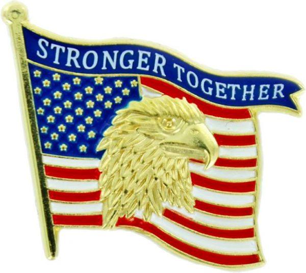 Stronger Together Flag Pin